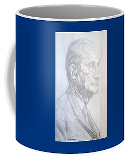 Coffee Mug featuring the drawing Model by Elly Potamianos