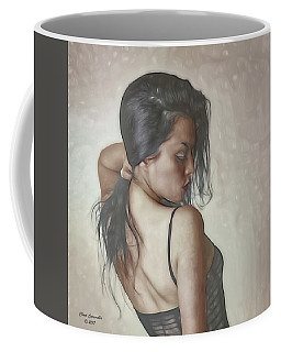 Model Fixing Her Hair ...  Coffee Mug