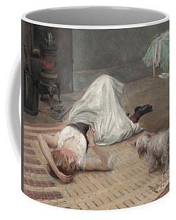 Model Having A Cigarette  Coffee Mug