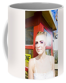 Model In Lace Makeup Coffee Mug
