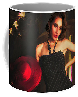 Model With Red Hat ... Coffee Mug