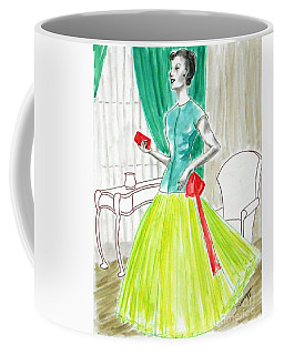 Model-year 1955 -- Illustration Of 1950's Fashion Coffee Mug
