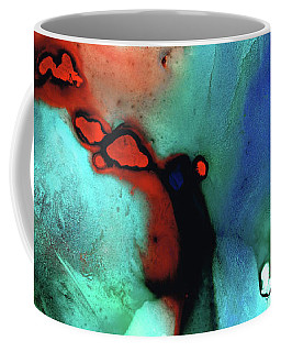 Coffee Mug featuring the painting Modern Abstract Art - Color Rhapsody - Sharon Cummings by Sharon Cummings