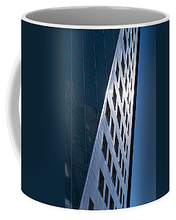 Blue Modern Apartment Building Coffee Mug by John Williams