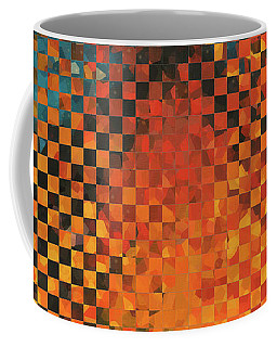 Coffee Mug featuring the painting Modern Art - Pieces 14 - Sharon Cummings by Sharon Cummings