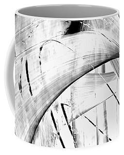 Coffee Mug featuring the painting Modern Art - White Embers 1 - Sharon Cummings by Sharon Cummings