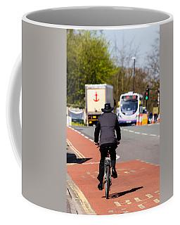Modern Cowboy On Bike Coffee Mug