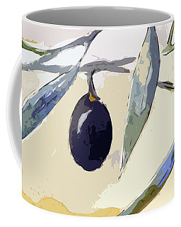 Modern Decor Art Olive Branches Wide 1 Coffee Mug