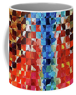 Coffee Mug featuring the painting Modern Dragonfly Art - Pieces 6 - Sharon Cummings by Sharon Cummings