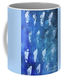 Coffee Mug featuring the painting Modern Fossil by Robin Maria Pedrero