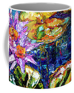 Modern Impressionist Lily Pond Reflections Coffee Mug