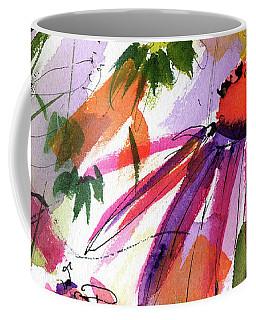 Modern Macro Echinecea Floral 2 Coffee Mug