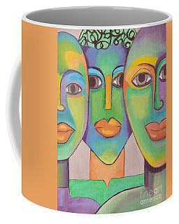 Modern Pop Art Faces Coffee Mug