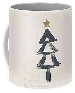 Modern Primitive Black And Gold Tree 2- Art By Linda Woods Coffee Mug