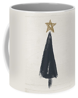 Modern Primitive Black And Gold Tree 3- Art By Linda Woods Coffee Mug