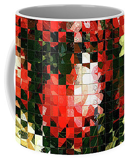 Modern Red Poppies - Pieces 4 - Sharon Cummings Coffee Mug