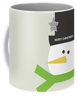 Modern Snowman Merry Christmas- Art By Linda Woods Coffee Mug