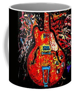 Modern Vintage Guitar Coffee Mug
