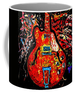 Modern Vintage Guitar Coffee Mug