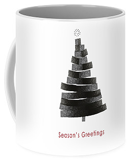 Modern Winter Tree- Season's Greetings Art By Linda Woods Coffee Mug