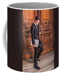 Coffee Mug featuring the photograph Modern Young School Boy 1504257 by Alexander Image