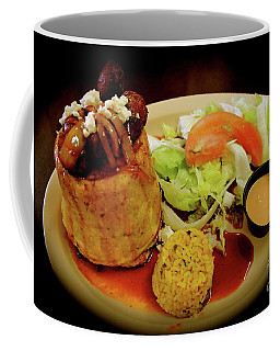 Coffee Mug featuring the photograph Mofongo Stuffed With Chorizos by The Art of Alice Terrill