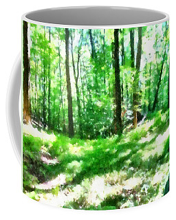 Coffee Mug featuring the photograph Mohegan Lake Forever Green by Derek Gedney