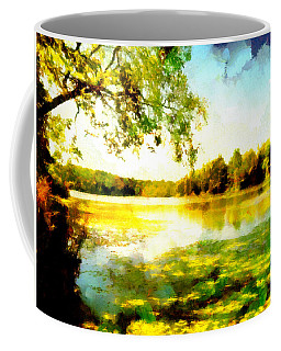 Coffee Mug featuring the painting Mohegan Lake Hidden Oasis by Derek Gedney