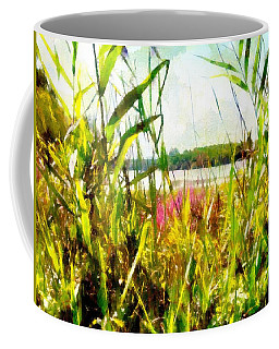Coffee Mug featuring the painting Mohegan Lake In The Brush by Derek Gedney