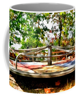Coffee Mug featuring the painting Mohegan Lake Merry-go-round by Derek Gedney