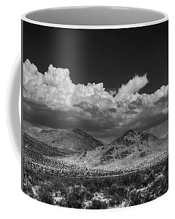 Coffee Mug featuring the photograph Mojave 020 Bw by Lance Vaughn