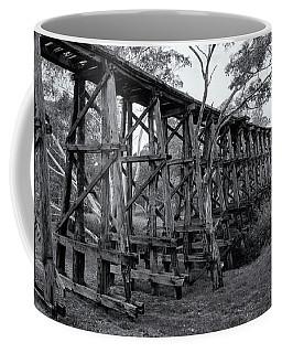 Coffee Mug featuring the photograph Mollisons Creek Trestle Bridge by Linda Lees