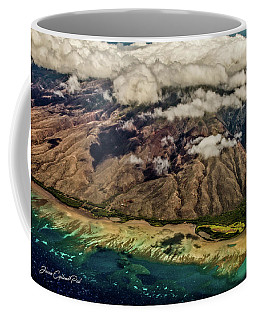 Coffee Mug featuring the photograph Molokai From The Sky by Joann Copeland-Paul