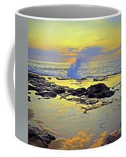 Coffee Mug featuring the photograph Mololkai Splash by Tara Turner