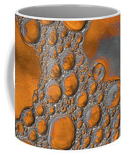 Molten Copper Puddles Abstract Coffee Mug