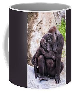 Mom And Baby Gorilla Sitting Coffee Mug by Stephanie Hayes
