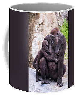 Mom And Baby Gorilla Sitting Coffee Mug
