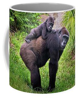 Mom And Baby Gorilla Coffee Mug