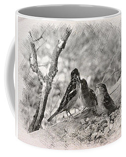 Coffee Mug featuring the photograph Mom, I Am Hungry by Debby Pueschel