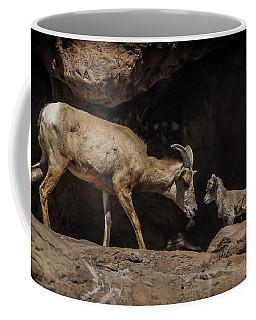 Coffee Mug featuring the photograph Mom N Baby Desert Big Horn Sheep by Elaine Malott