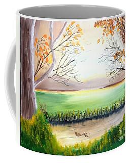 Momma Duck And Ducklings Coffee Mug