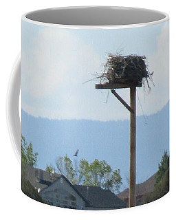 Mommy Circles Her Nest Coffee Mug by Kelly Awad