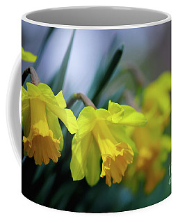 Coffee Mug featuring the photograph Mom's Daffs by Lois Bryan