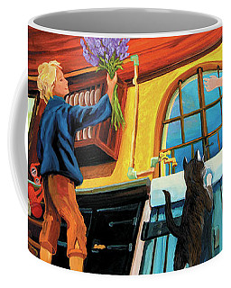 Coffee Mug featuring the painting Mom's Kitchen by Donna Hall