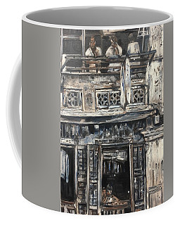 Coffee Mug featuring the painting Mon Vieux Quartier by Belinda Low