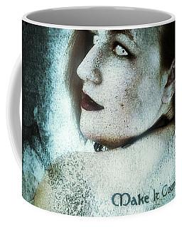 Coffee Mug featuring the digital art Mona 1 by Mark Baranowski