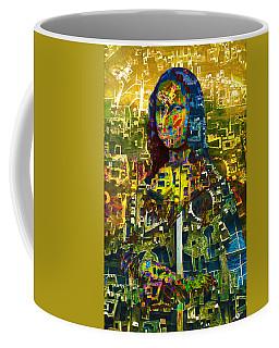 Coffee Mug featuring the mixed media Mona by Tony Rubino