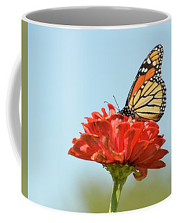 Coffee Mug featuring the photograph Monarch  3 by Ann Bridges