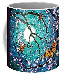 Monarch Butterflies In Teal Moonlight Coffee Mug