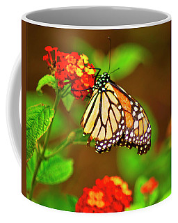 Coffee Mug featuring the photograph Monarch Butterfly by Bill Barber